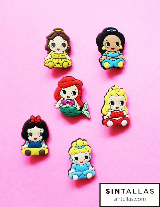 Set de broches 'Princesas Disney'