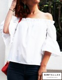 Blusa off-shoulder blanca